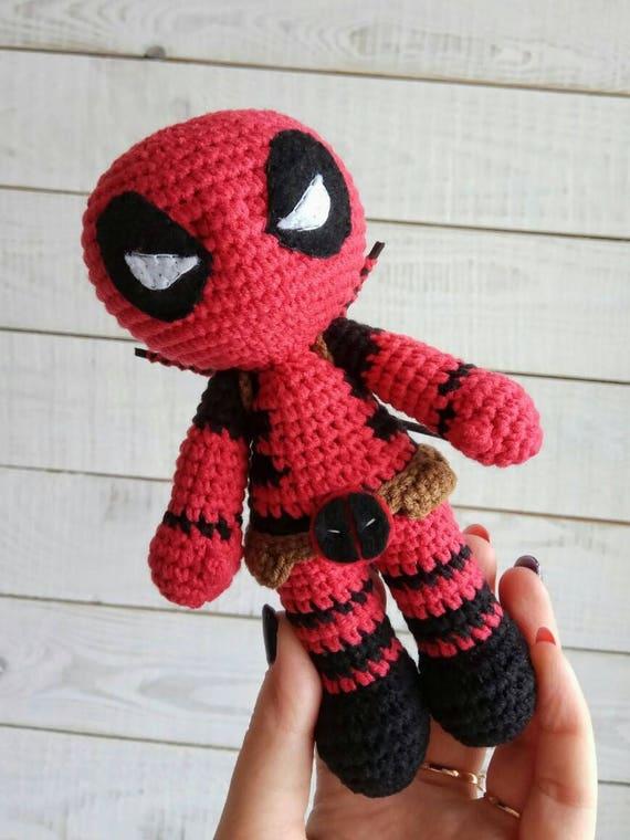 Deadpool häkeln Puppe Amigurumi Spielzeug Comics Superhelden | Etsy