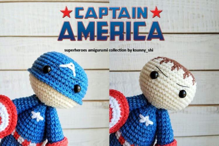 DIY Captain America Crochet pattern PDF Amigurumi superheroes | Etsy
