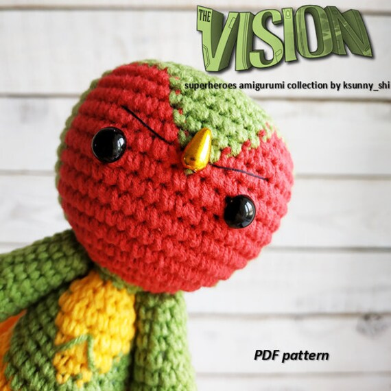 Deadpool Crochet pattern PDF Amigurumi superheroes Comics inspired ... | 570x570
