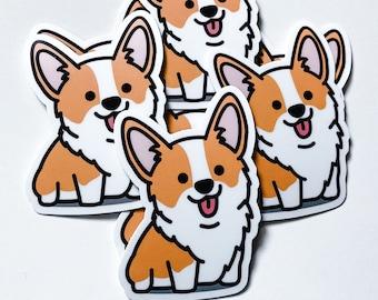 Adorable Happy Cute Smiling Corgi Sticker