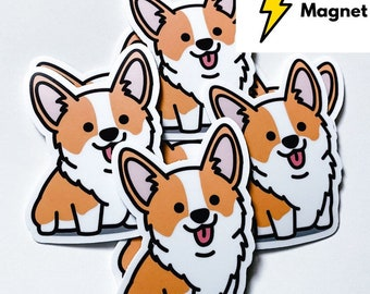 "New Magnet - Adorable Happy Cute Smiling Corgi Magnet 3"""