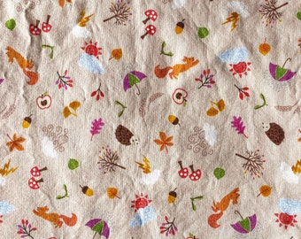 Autumn Animals Fall Foliage Double Layered 100% Cotton Face Mask With Pocket For Filter Insert And Removable Nose Wire