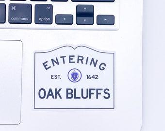 Entering Oak Bluffs Martha's Vineyard Massachusetts Town Sign Sticker