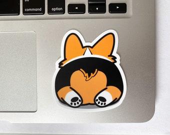 Cute Tricolor Corgi Bum Adorable Sticker