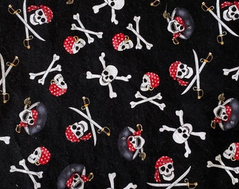 Pirates Argh Great Happy Halloween Double Layered 100% Cotton Face Mask With Pocket For Filter Insert And Removable Nose Wire