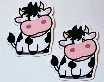 Adorable Happy Cute Smiling Cow Sticker