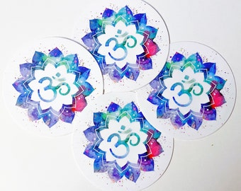 Bright and Colorful Mandala Om Sticker