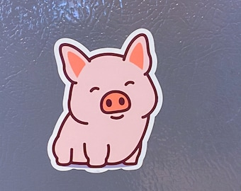 NEW Magnet - Adorable Happy Cute Smiling Pig Magnet