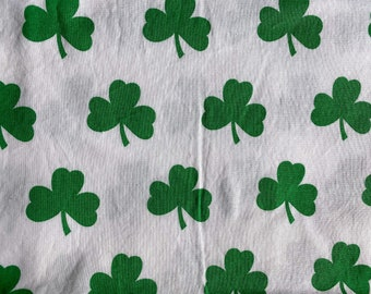 Big Shamrocks Double Layered 100% Cotton Face Mask With Pocket For Filter Insert And Removable Nose Wire