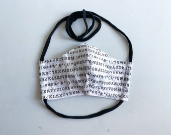 Typography & Typewriter Lover - Double Layered 100% Cotton Face Mask With Pocket For Filter Insert And Removable Nose Wire