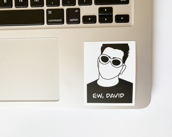 Ew David Silhouette with Sunglasses Sticker