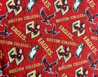 Boston College BC Eagles Red and Gold Double Layered 100% Cotton Face Mask With Pocket For Filter Insert And Removable Nose Wire