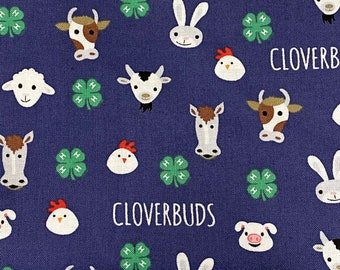 4H Cloverbuds Double Layered 100% Cotton Face Mask With Pocket For Filter Insert And Removable Nose Wire