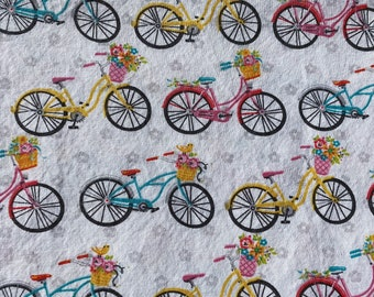 Colorful Cruiser Bikes Bicycles - Double Layered 100% Cotton Face Mask With Pocket For Filter Insert And Removable Nose Wire