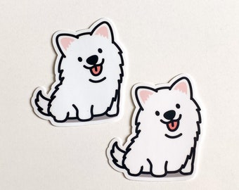 Adorable Happy Cute Smiling Samoyed Sticker