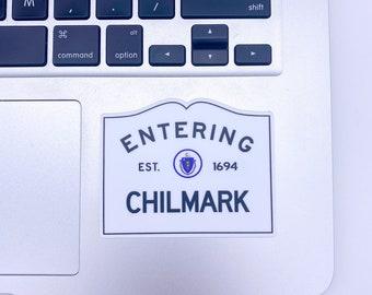 Entering Chilmark Martha's Vineyard Massachusetts Town Sign Sticker