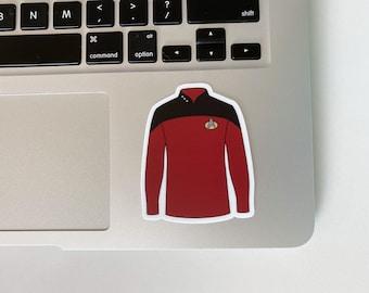 Red Shirt Uniform TNG Trek Inspired Fan Art Sticker