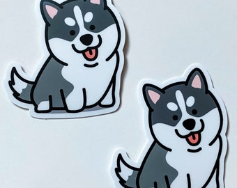 Adorable Happy Cute Smiling Husky Sticker