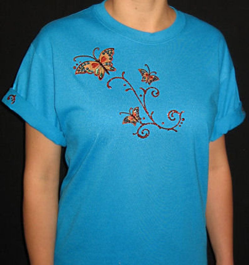 25797440a Embroidered Butterfly Butterflies Unique Custom Women's   Etsy
