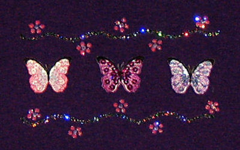 c2043901c Sequin Embroidered Butterflies Butterfly Unique Custom   Etsy