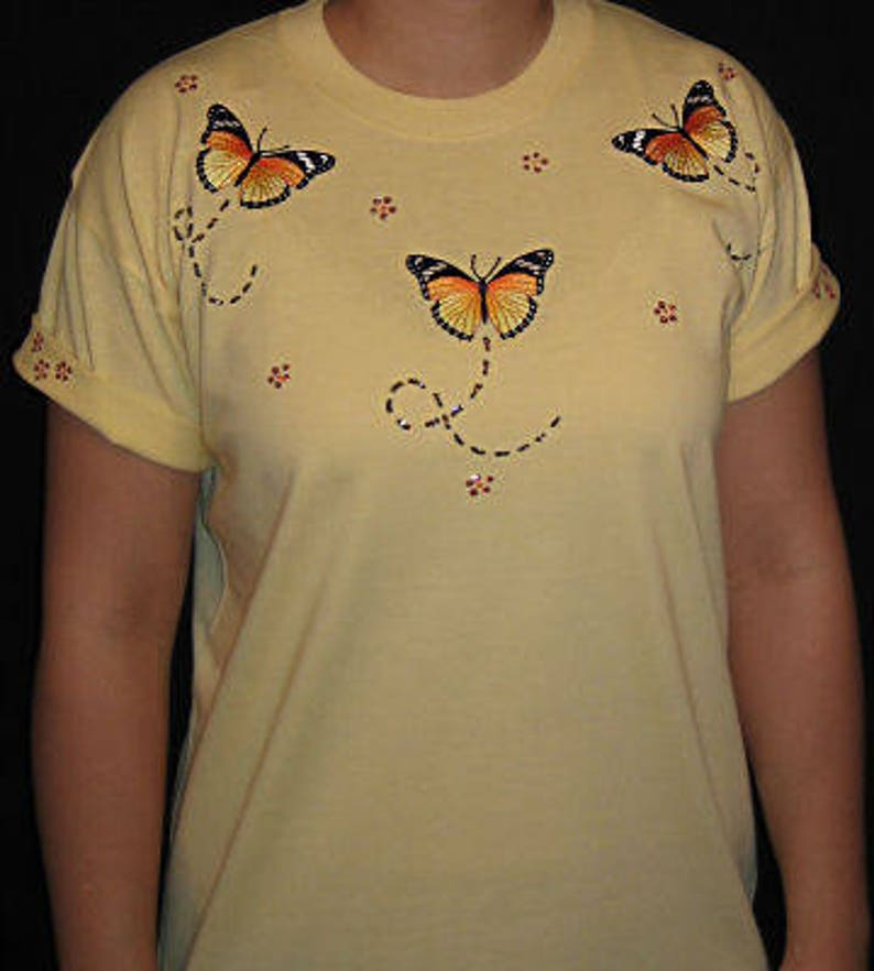 d90a4f3c1 Embroidered Monarch Butterflies Butterfly Unique Custom   Etsy