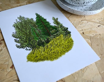 Tiny Forest A5 poster