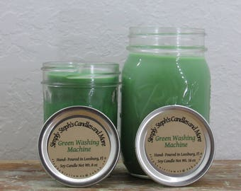 Soy Candle/ Green Washing Machine/ Gain/ Clean Scent