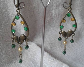 """Earrings """"butterfly and pearls"""""""