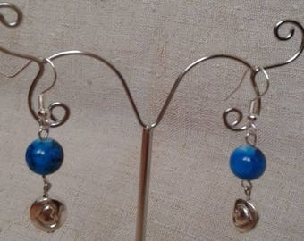 Pearl and Silver Heart Earrings