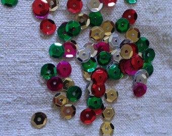 set of 500 multicolored glitter sequins