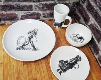 Skull dinnerware   Etsy