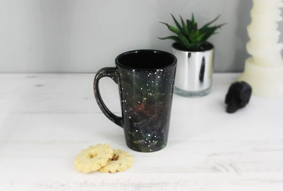 Astronomy Latte Mug Galaxy Cup Large Space Mugs Hand Etsy