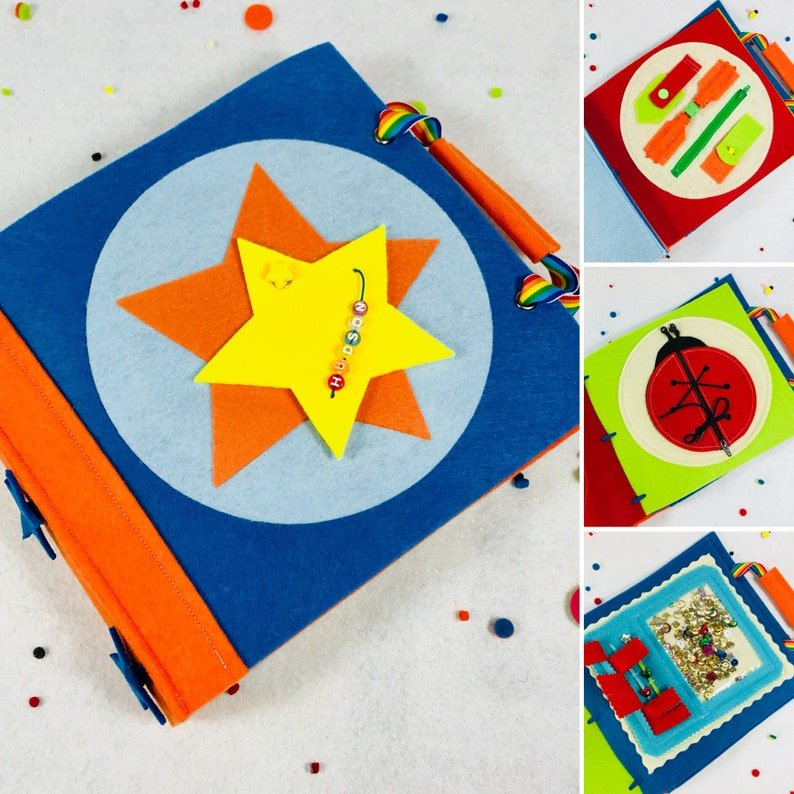Quiet Book For 3 Year Old Boy Personalized Gift Set Inc