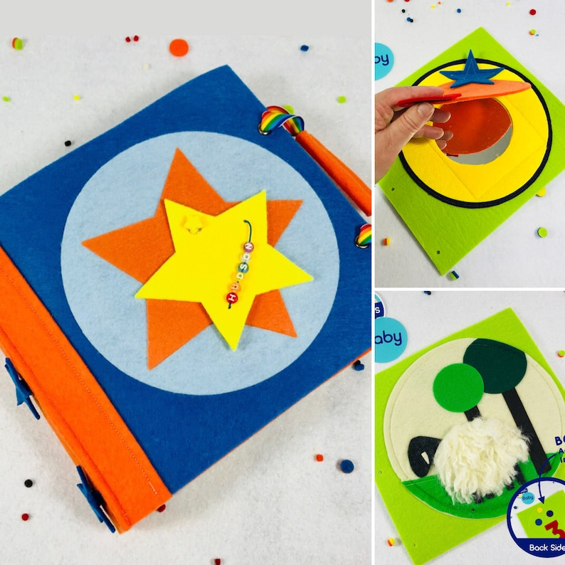 Personalized Busy Book For Baby Boy Starter Set Inc 2