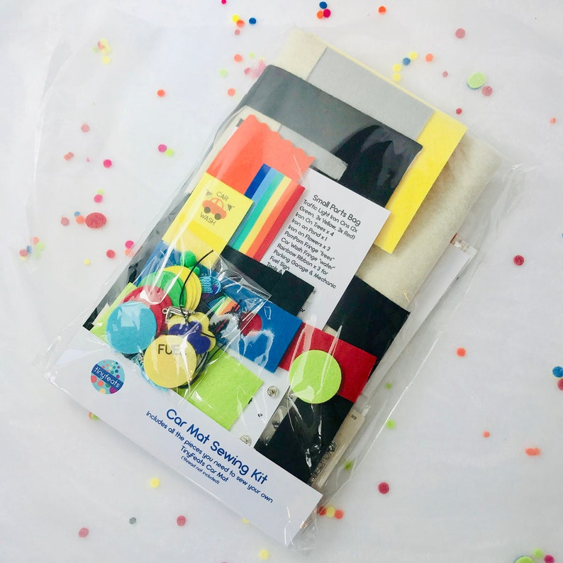 DIY Felt Roads and Travel Tote for Hotwheels Cars Sewing Kit /& Pattern for the TinyFeats Toy Car Playscape