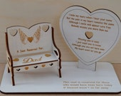 Memorial Plaque, Missed Loved Ones, Personalised Chair, Ornament For Year Round Decoration