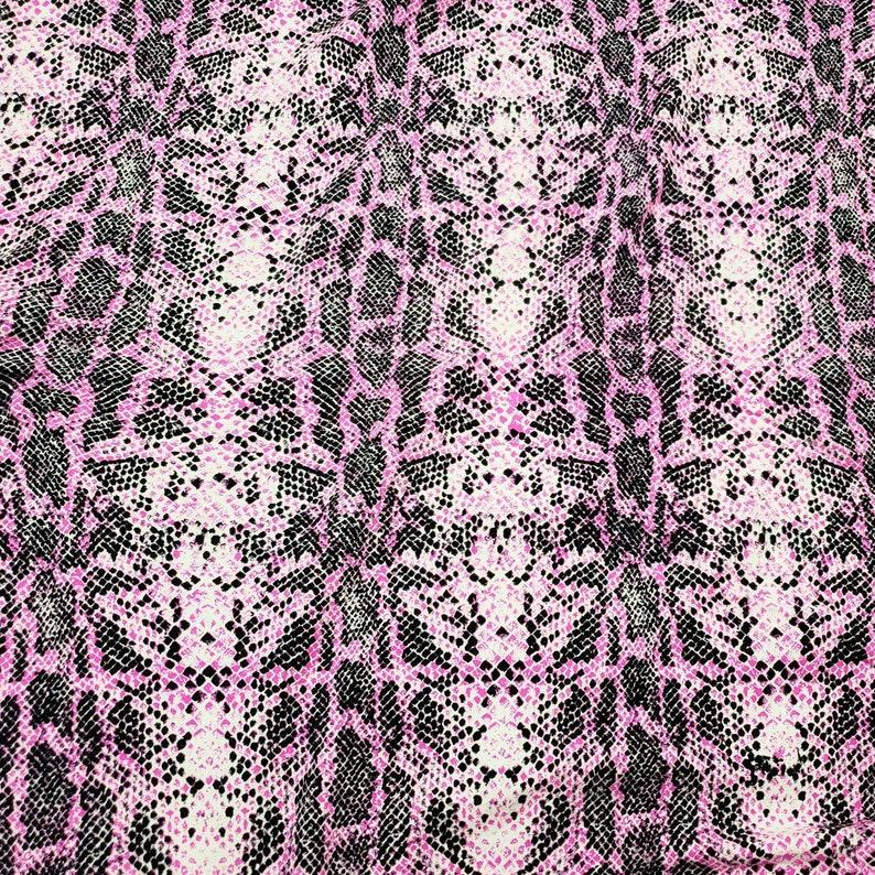 Snake Skin Print Cotton Lycra Fabric