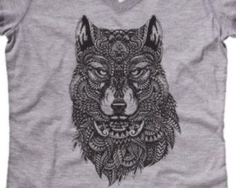 b81f362e3e5 WOLF SHIRT Wildlife Shirt Nature T-shirt Yoga Shirt