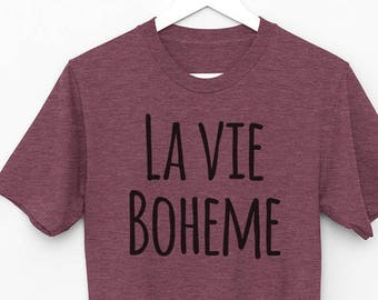 Rent The Musical Shirt, La Vie Boheme, Broadway Show, Gift for Her, Broadway Gift, Broadway Show Tee, Lyrics