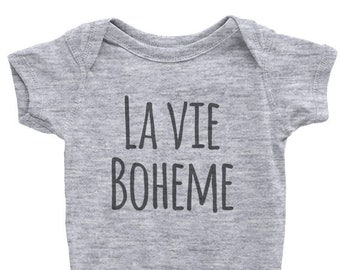 LA VIE BOHEME, Baby Onesie, Rent Musical, Baby shower Gift, Original Gift, New Born, Musical broadway Show, For girl, For boy