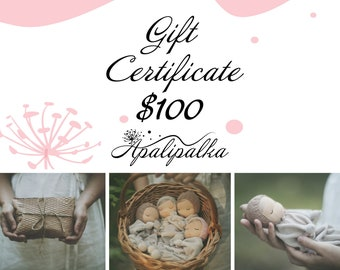 Gift certificate for the purchase of Waldorf dolls in the Apalipalka store
