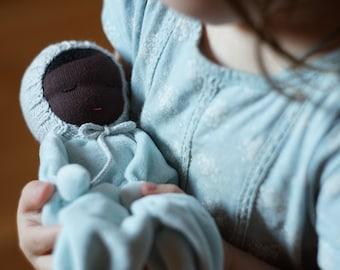 Waldorf doll Black baby doll African American Doll