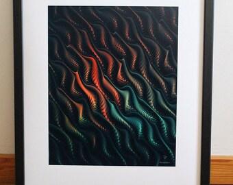 Abstract Art print - Wall - poster - Turbulence - Pictopathe