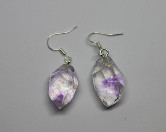Crystal resin ear jewels