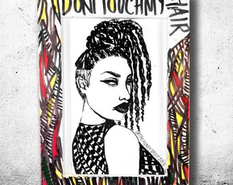 Don't Touch My Hair (The Taliswoman Collection), Framed Art