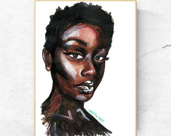 Beauty In Obsidian (The Afrotherapy Collection), Poster
