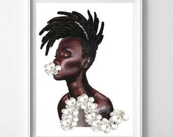 Meditation in African Violets, Poster