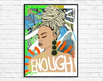 Enough in Sky Blue (The Afrotherapy Collection), Poster