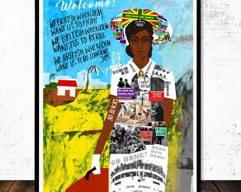 God Save The Queen (Windrush Scandal), Print