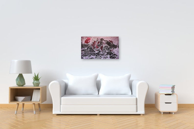 Abstract Painting Red Black Canvas Modern Wall Home Decor Contemporary Modern Abstract Art Painting Modern Painting on Canvas Original Art